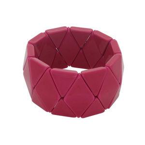 Catherine Stein Pink Triangle Stretch Bracelet